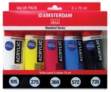 Talens Amsterdam Value Pack 5x75ml